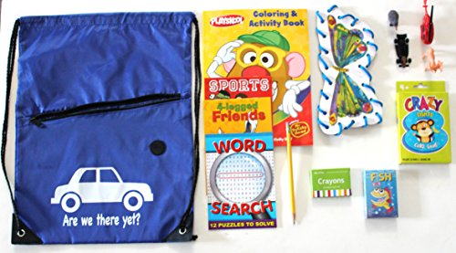Are We There Yet? Kids Activity Bag stock full of Travel