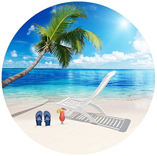 Screen Door Magnets - Twist, Click and Lock - Keep People and Pets from Walking into a screen door (Beautiful Beach (Scene Screen)