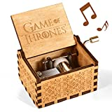 Game of Thrones Music Box, Wood Merchandise Vintage Classic Hand Crank Theme Music Box Best Gift for Game of Thrones Action Figure, Collectible Figure