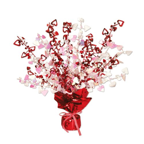 Beistle 70805 Heart Gleam 'N Burst Centerpiece, 15-Inch, 1 Per Package
