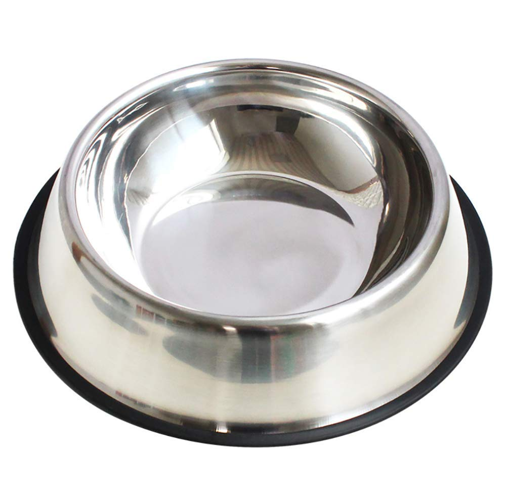 Dog Bowls,Stainless Steel Dog Bowl with No Spill Non-Skid with Anti-Skid Rubber Base for Food or Water Perfect Dish for Dog Puppy Cat and Kitten