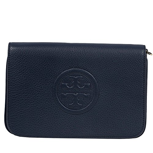 Tory Burch Bombe Convertible Clutch Leather TB Logo - Convertible Handbag Clutch