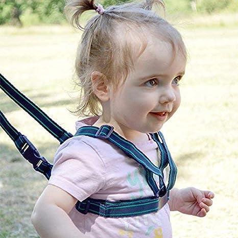 Arnés para caminar de bebé con correa para el hombro, seguro pasos ...