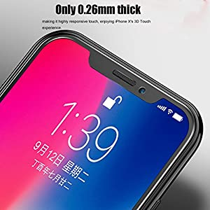[3 Pack] iPhone X Screen Protector,iBarbe Tempered Glass Screen Protector Applicator Frame/ 3D Touch Compatible/ Ultra Clear/ 9H Hardness/ Anti-Fingerprint/ Bubble-Free for Apple iPhone X / 10