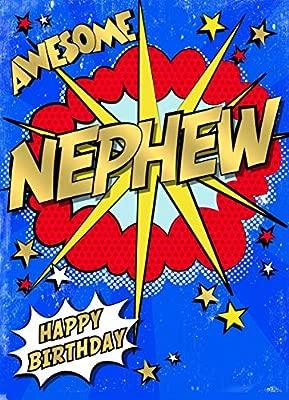 Pow - Tarjeta de felicitación de cumpleaños para sobrino ...