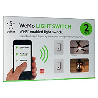 Belkin WeMo Light Switch - 2 Pack (B00A8DK4CS) | Amazon price tracker / tracking, Amazon price history charts, Amazon price watches, Amazon price drop alerts