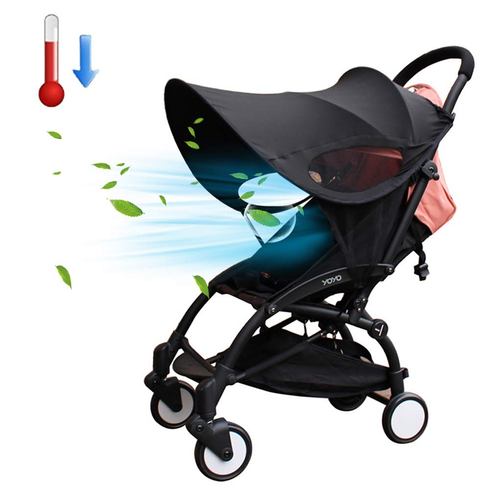 Stroller Sun Shade Cover Universal Stroller Canopy UV Protective Rays Cover Stroller Sunshade by Pueri