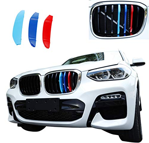 Inserts Grill Series - Exact Fit ///M-Colored Grille Insert Trims for 2018-up BMW G01 X3 w/Standard Kidney Grille (7Beams)