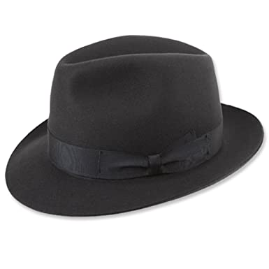 Borsalino Classic Fedora Hat-Charcoal Grey at Amazon Men s Clothing ... 45e476e1fa3