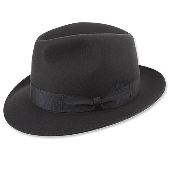 3a6137fd652 Borsalino Classic Fedora Hat-Charcoal Grey at Amazon Men s Clothing store