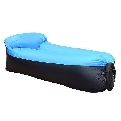 SZJ Inflable Lounger Almohada Perezoso Inflable sofá portátil Playa al Aire Libre sofá Cama Color Coincidencia