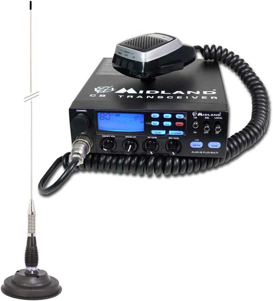 PNI Paquete Radio CB Midland Alan 48 Multi Plus B Antena ...
