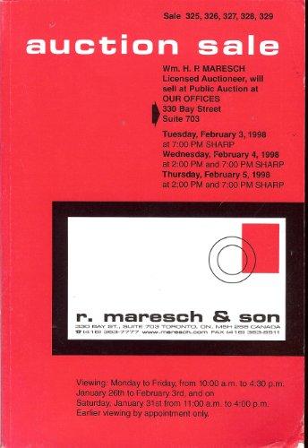 R. Maresh & Son Auction Sale 325-329 featuring Canada, British Commonwealth, Great Britain, & Foreign (Wm. H.P. Maresch, Feb 3-5, 1998)