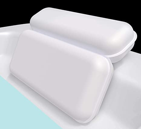 Amazon.com : Yimobra Spa Bath Pillow, 2 Panel Bathtub Pillows for Shoulder Neck Support, 14.5 x 11 Inches, Powerful Gripping with 7 Suction Cups, Fits Hot Tub Home Spa : Beauty