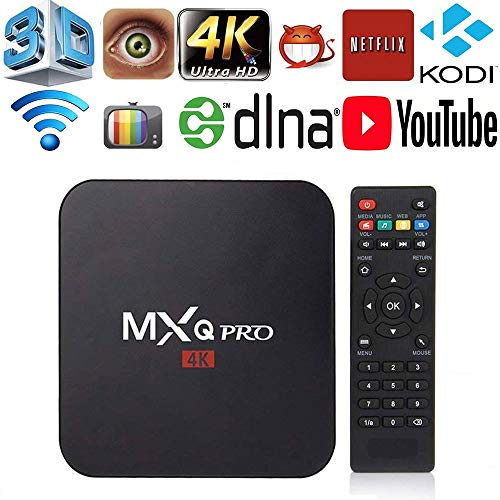 MXQ Pro 4K Android 7.1 TV Box Amlogic S905W Quad Core 64 Bits 1GB/8GB Smart TV Box Support WiFi 3D 1080P Ultra HD 4K DLNA Home Media Player (Ott Tv Box 4x Cpu 4x Gpu)
