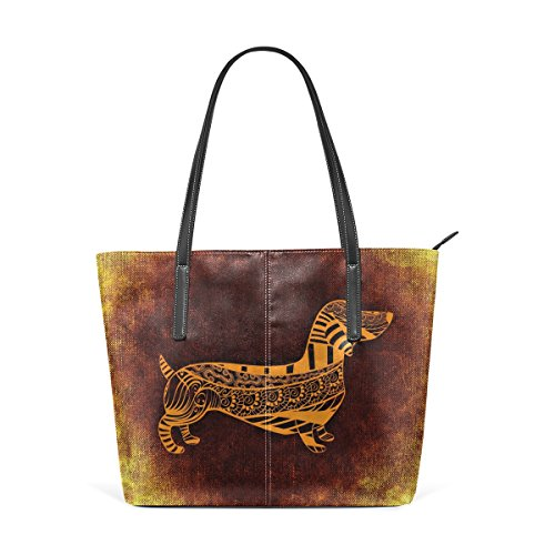 LEISIS Dachshund Women's Leather Tote Shoulder Bags for sale  Delivered anywhere in USA