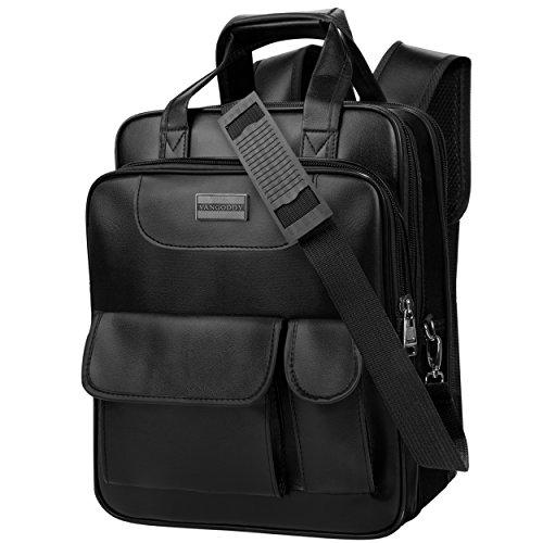 PU Leather 3in1 Loras Laptop Backpack Messenger Shoulder Bag for HP Pavilion x360 / Spectre x360 / ProBook / Stream 11.6 13.3 Inch Laptop