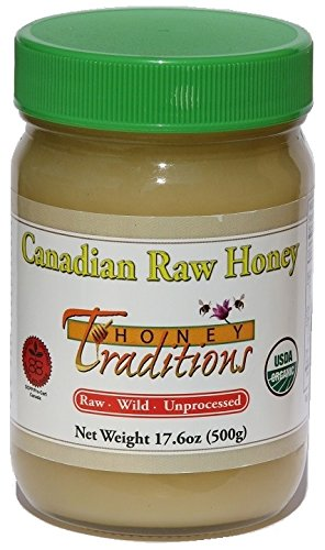 Tropical Traditions Organic Raw Canadian Honey - 17.6 oz. glass jar price tips cheap