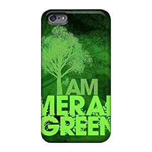 Durable Hard Phone Case For Iphone 6 (LIQ6764bGZH) Unique Design Colorful Green Day Skin
