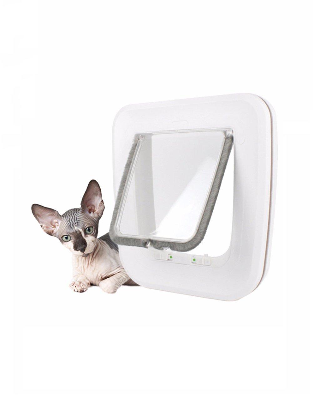 diseños exclusivos Cutepet Puerta Gato Del Perro Perro Perro Puerta Magnética Bloqueable Automática Para Gatos Y Perros 4 Modo Pet Door Moth Proofing Resistencia Al Envejecimiento Sin Deformación PM-05631  A la venta con descuento del 70%.
