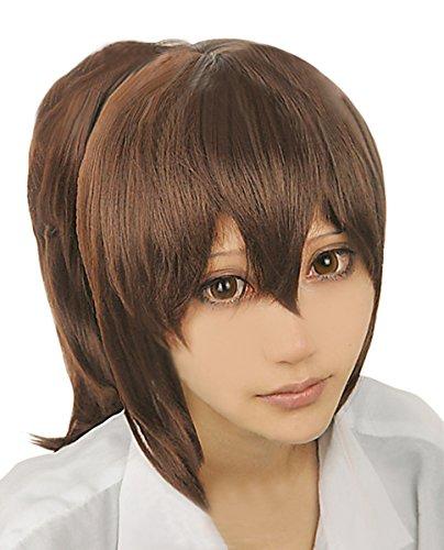 [Cfalaicos Spirited Away Ogino Chihiro Cosplay Costume Wig + Ponytail + Free Wig Cap] (Chihiro Cosplay Costume)