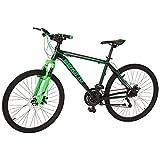 Benotto XC-5000 Bicicleta de Aluminio, Frenos DDM, color Negro/Verde, Grande