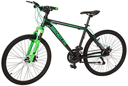 Benotto XC-5000 Bicicleta de Aluminio, Frenos DDM, color Negro/Verde, Grand