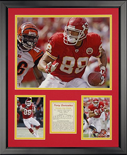 Legends Never Die Tony Gonzalez Framed Photo Collage, 16