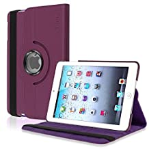 INSTEN 360-Degree Swivel Leather Case for Apple iPad mini 1/2/3, Purple (PAPPIPDMLC21)
