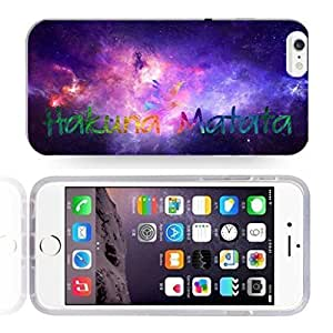 Africa Ancient Proverb HAKUNA MATATA Color Accelerating Universe Star Design Pattern HD Durable Hard Plastic Case Cover for iPhone 6 Plus by mcsharks