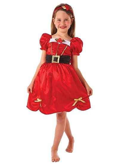 Kids Party World - Disfraz de Mamá Noel para niña, talla 6-8 ...