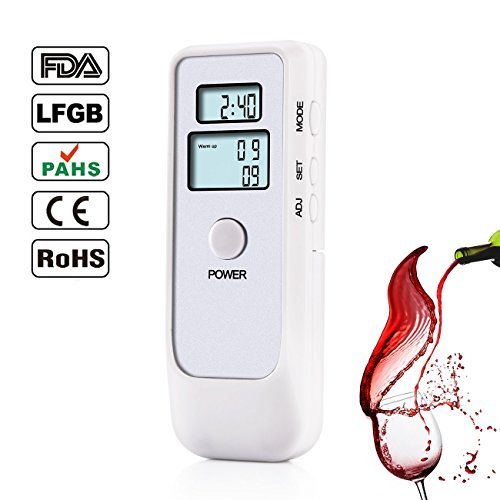 Professional Digital Breathalyzer, Portable Breath Alcohol Tester with LCD Screen for Home Use