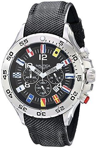 Nautica Men's N16553G Stainless Steel Watch with Black Band (Nautica Sport N16553g)