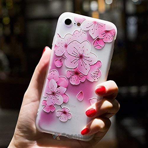 Cocomii Cute Armor iPhone 8/iPhone 7 Case New [Feels So Good in Hand] Premium Pretty 3D Pattern Relief Silicone Shockproof Bumper [Slim] Full Body Cover for Apple iPhone 8/iPhone 7 (C.Cherry Blossom) ()