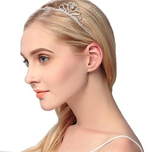 FADA Wedding Headband for Bridal Headpiece Jewelry Handmade Crystal Rhinestone Vintage Beads Satin Ribbon Women Hair Band Accessories Wishesport