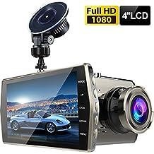 "Dash Cam,Zintou Car Dash Cam Big 4"" LCD FHD 1080p 170 Degree Wide Angle Dashboard Camera Recorder with G-Sensor,NightHawk Vision,WDR, Loop Recording"