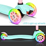 3 Wheels Kick Scooter for Kids and Toddlers Girls & Boys, Adjustable Height, Pu Flashing Wheels, Suitable for Kids Ages 3-12