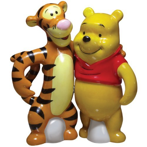 Westland Giftware Life According to Eeyore Pooh and Tigger 4-Inch Magnetic Salt and Pepper ()