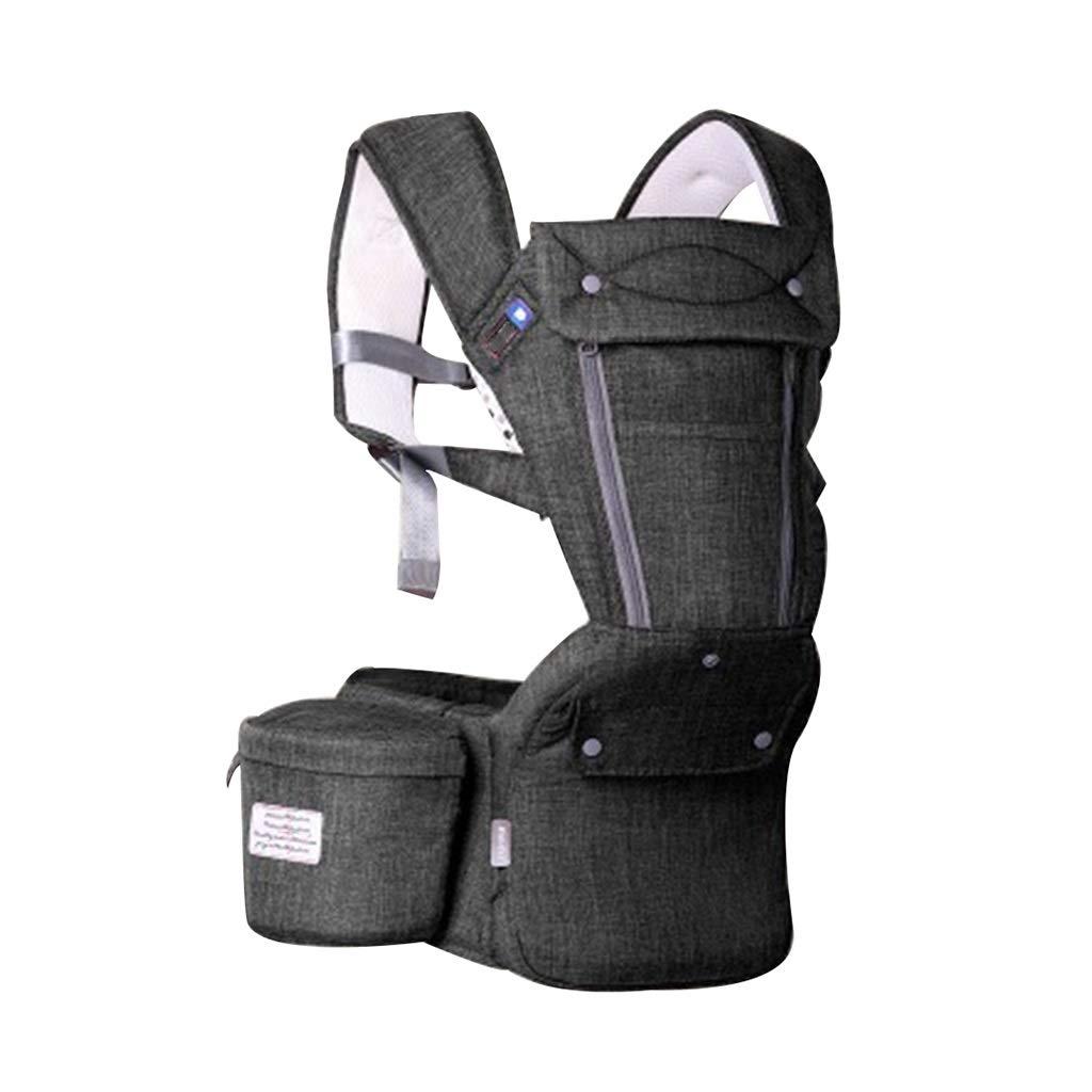 Correa Plegable Taburete De Cintura Multifunción Cinturón De Seguridad para Niños/Correa para Niños Cojinete De Carga 13 Kg (Aproximadamente 33 Libras) (Color : Gray, Size : 26-42inchs)