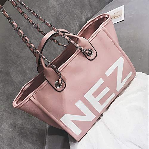la 18cm Bolso 4 de la Manera Pink de de Mensajero Bolso Mujer Color Hombro del 37 27 Colores Gran Capacidad Carta de Bolso ZDD la qwp88A