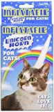 "Your cat makes a show of being regal and in control, but you could turn all that around with this Inflatable Unicorn Horn for Cats. It's a vinyl, 5-1/2"" (14 cm) long unicorn horn with a four-point elastic strap system that holds it comfortabl..."