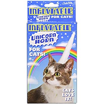 Amazon.com: Accoutrements Inflatable Unicorn Horn for Cats