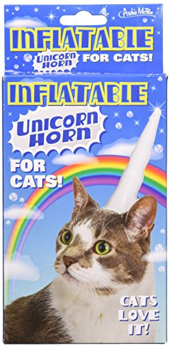 Cat Unicorn Costume (Accoutrements Inflatable Unicorn Horn for Cats)