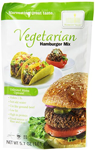 Harmony Valley Vegetable Hamburger Mix, 5.7-Ounce (Pack of 6)