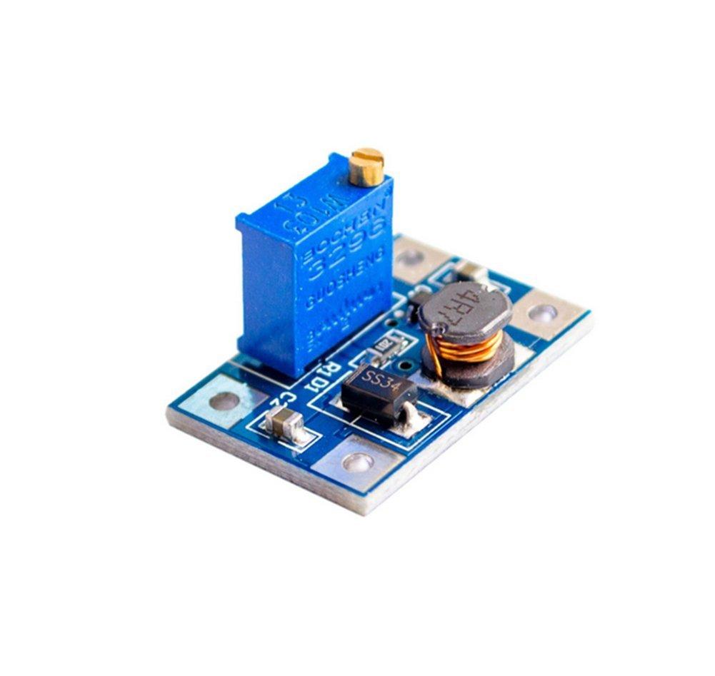 Dosige SX1308 DC-DC Boost Modul 2a Boost Board Weit spannung seingang 2//24V L 5//9//12//28V Einstellbar Blau