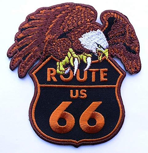 Eagle Route 66 - Route 66 Eagle Outlaw Biker Vest Patch [ 4 Inches]