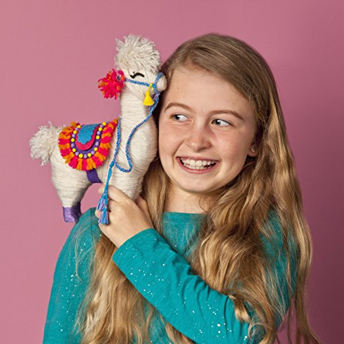 51n3RuES9DL - Craft-tastic – Yarn Llama Kit – Craft Kit Makes 1 Yarn-Wrapped Llama