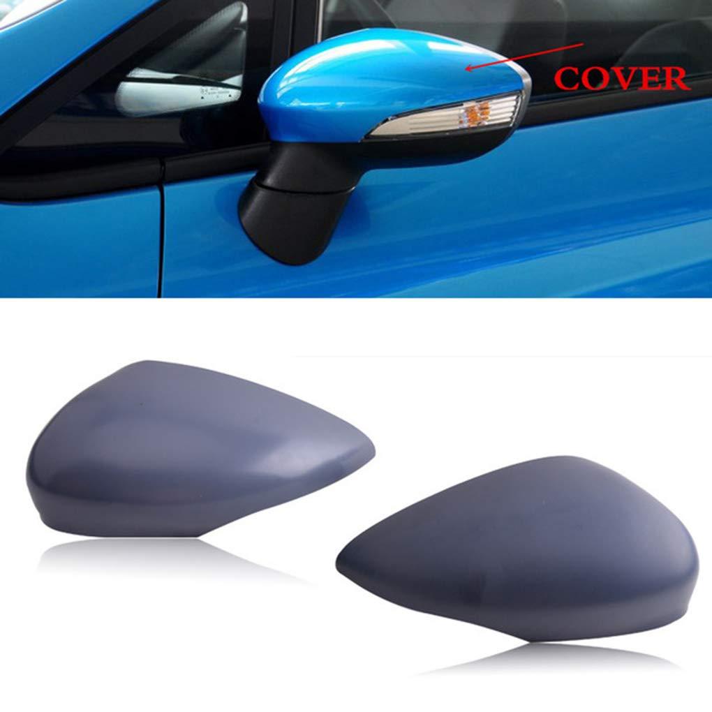 Bomcomi 1 Paio Specchio retrovisore Covers Calotte degli specchietti coverRearview Specchio di Ricambio per Ford Fiesta 2009-2015 1.594.546 1.594.522 8A6117K747CA 8A6117K746CA