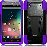 zte quartz protective phone case - ZTE Quartz Z797c (Straight Talk, Tracfone , Net 10) Case, C-cover ZTE Quartz Z797c Premium Durable Rugged Shell Hybrid Protective Phone Case Cover with Built in Kickstand (PURPLE)