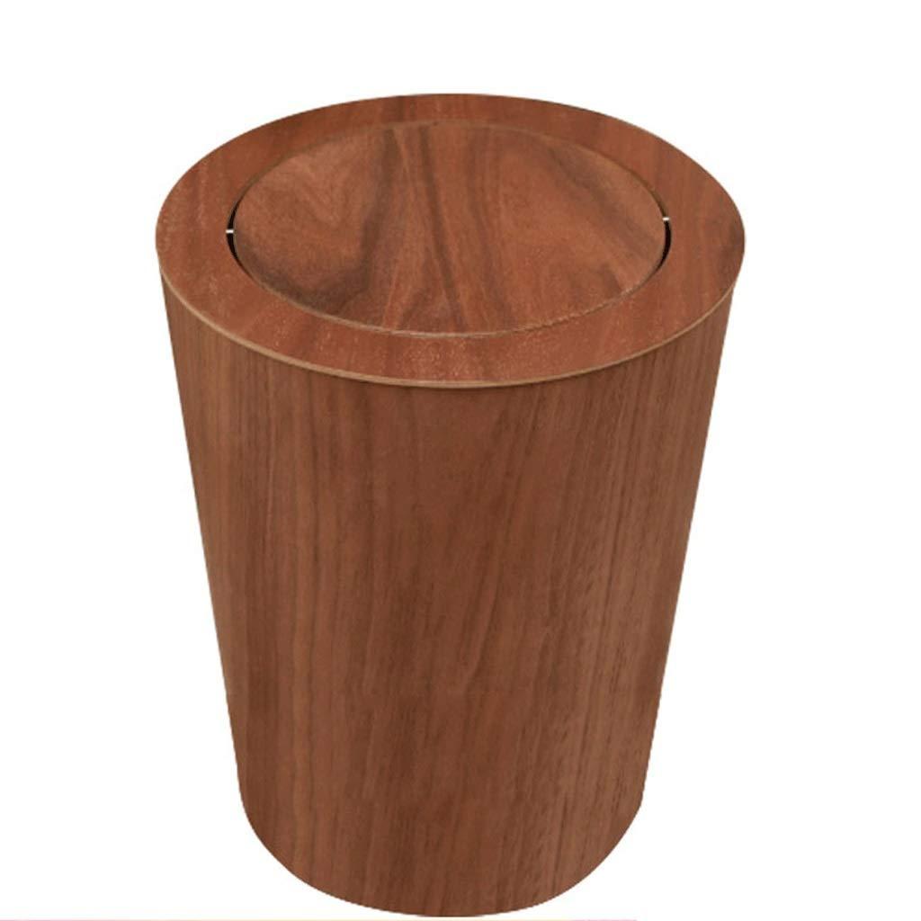 Poubelle en bois peut simple salon créatif chambre salle de bain sauvage (Color : A) JHEY